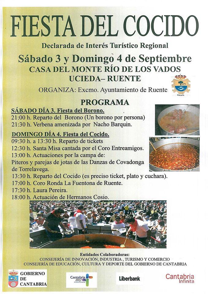 Cartel Fiesta del Cocido Ucieda 2016